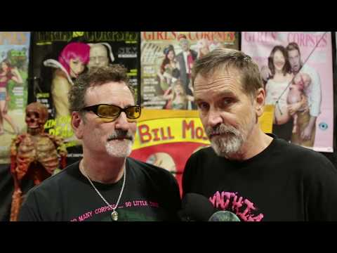 Actor BIll Moseley ed at Girls and Corpses booth at MidSummer Scream