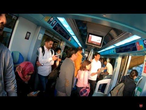 Dubai Metro View from Gold Class With Original Sound