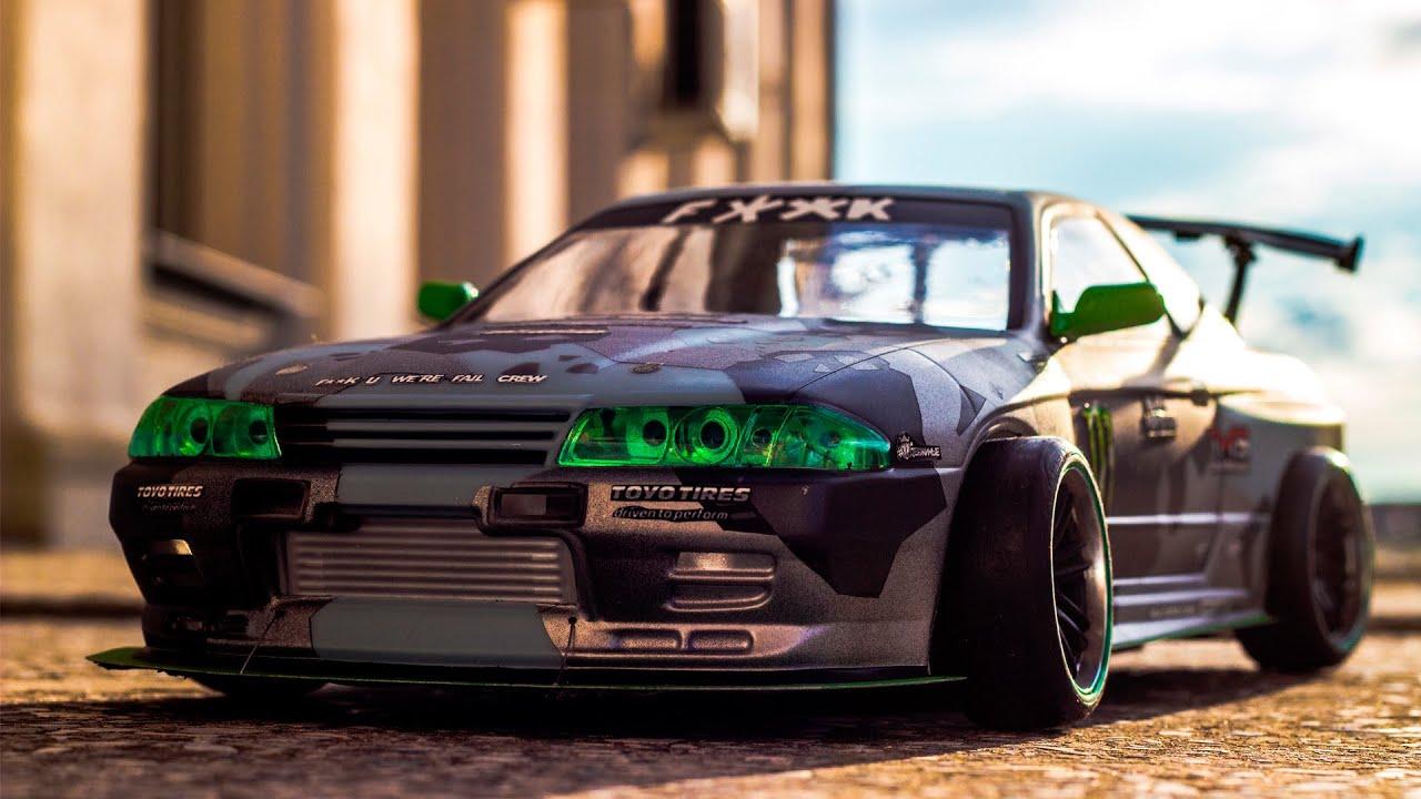 Badass Rc Drift Car Nissan Skyline Gt R Youtube