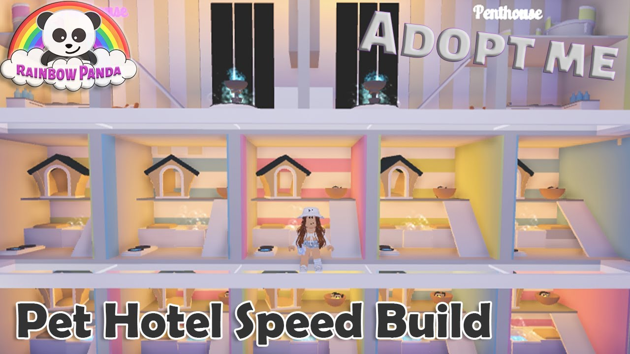 Adopt Me Speed Build Pet Hotel Pet Room Youtube