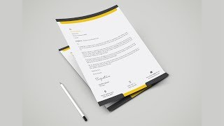 simple business letterhead design - Adobe illustrator CC Mp3