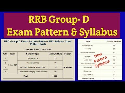 Railway Group- D New Syllabus & New Exam Pattern. RRB Group- D New Syllabus 2018