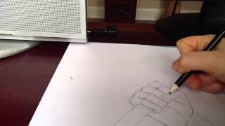 Drawing a hand holding a sword(time laps)