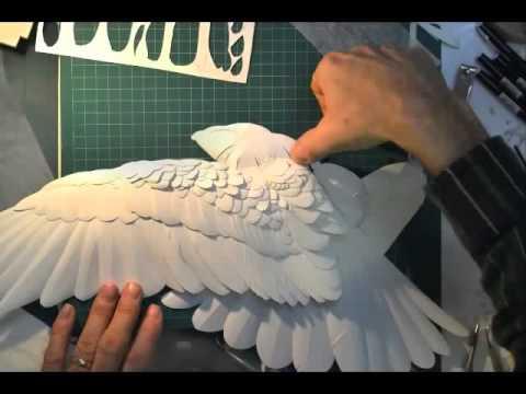 Paper art sculpture by Calvin Nicholls