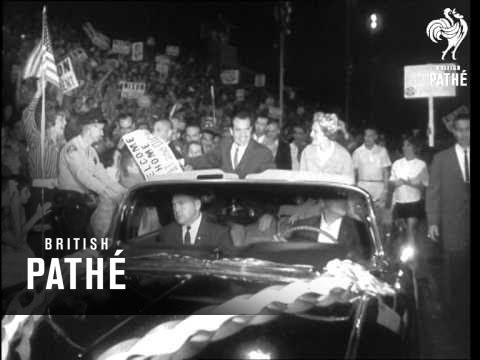 V/pres. Nixon Starts His Election Tour (1960)