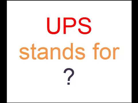 Full form of UPS is ? - YouTube