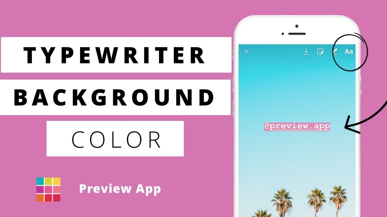 HOW TO: Change Typewriter Background Color in Insta Story (any color ...