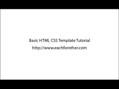 Basic Html Css Template Part01 - Youtube