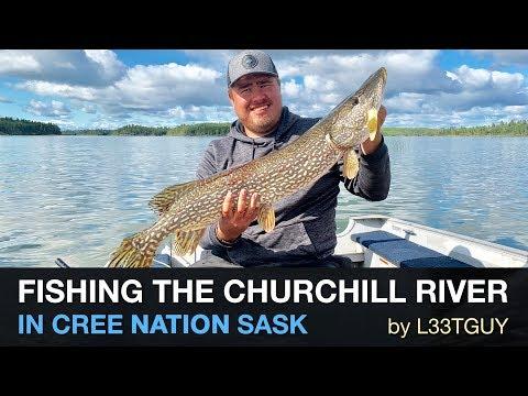 Fishing The Churchill River In Cree Nation Saskatchewan