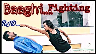 Best Fighting Scene by Raja Jadhav(RJD) Baaghi Movie 2018 Nisarpur City Barwani MP