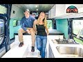Awesome Sprinter Camper Van Tour + How They Make Money On The Road