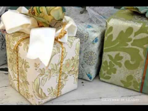 Wedding gift wrapping ideas   YouTube
