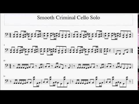 Smooth Criminal -  Free Cello Sheet Music