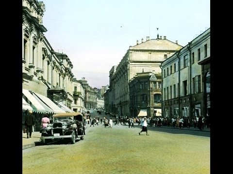 1908 г. Москва. Улица Кузнецкий мост. Кинохроника.