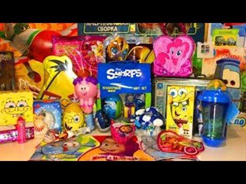 Посылка из Интернет-магазина Уголок Сказки Surprise eggs Unboxing Spongebob,Angry Birds,MyLPony