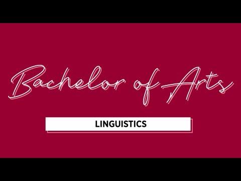 Bachelor Of Arts - Linguistics