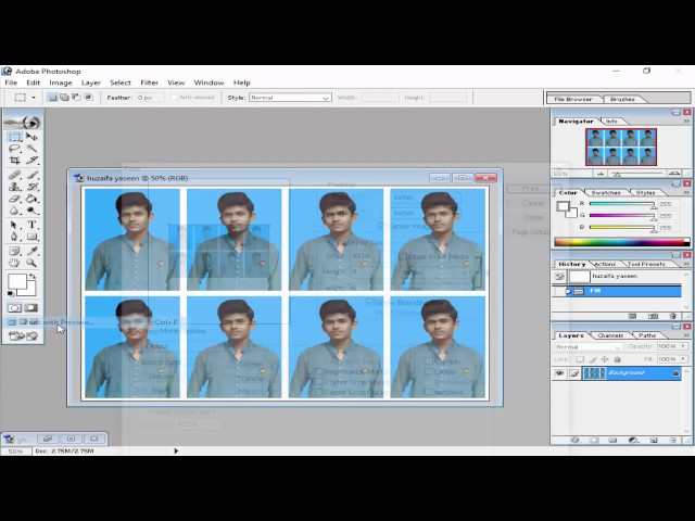 How to make Passport Size Picture In Adobe Photoshop 7.0 Hindi / Urdu.