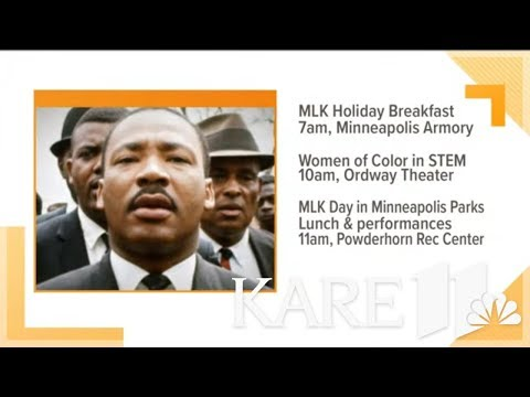Celebrations kick off for Martin Luther King Jr. Day