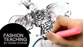 How to draw fashion sketches in pencils and markers Thumbnail