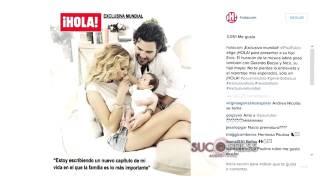 Paulina Rubio presenta a su bebé en Hola