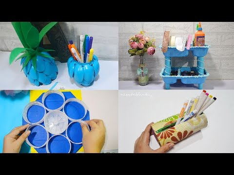 4 SURPRISINGLY RECYCLE CRAFTS USING DISPOSABLE ITEMS! Best Reuse Ideas