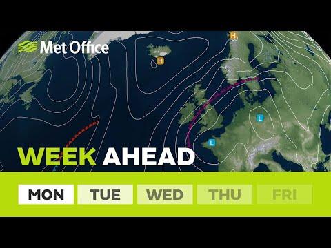Week Ahead - Weather warnings in force for heavy rain.