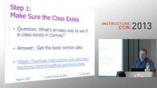 Automated API Importing of Scantron Scores | InstructureCon 2013