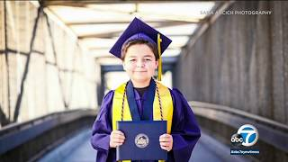 13-year-old student graduates from Fullerton College | ABC7