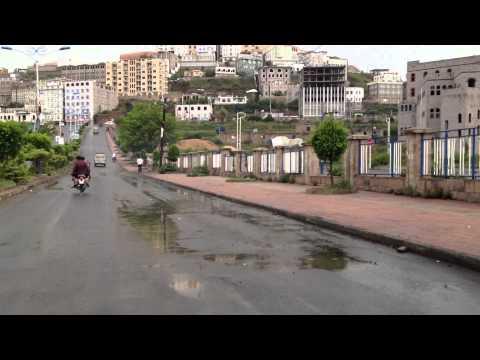 Yemen Life HD Motorcycle view Part3 اليمن - اب Ibb Streets