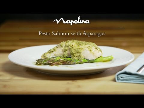 Pesto Salmon With Asparagus