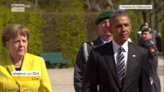 Obama-Besuch in Hannover: Empfang des US-Präsidenten mit militärischen Ehren am 24.04.2016