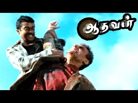 Aadhavan   Aadhavan Tamil Movie Scenes   Suriya saves Murali and Nayanthara   Aadhavan Climax Fight