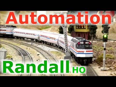 Amtrak Passenger automation at the Randall Museum Train Layout