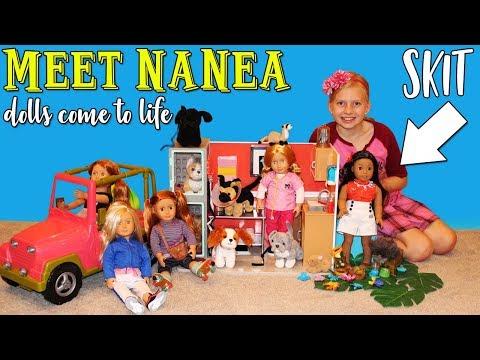 Alyssa's Dolls Come to Life! Puppy Rescue Skit