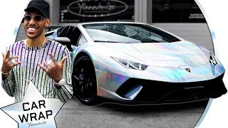 Aubameyang Wraps His Lamborghini Huracan in Incredible Holographic Chrome