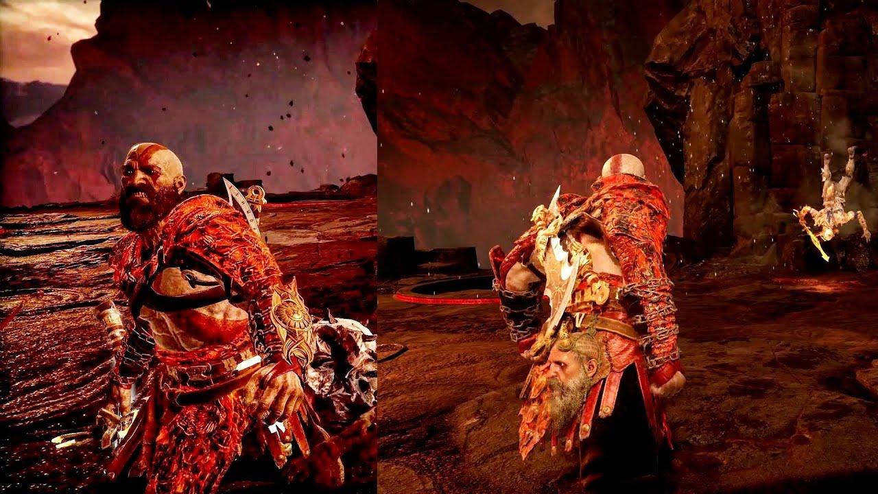 God of War - Telekinesis Combos Spartan Rage Cancel! Kratos Too OP Now