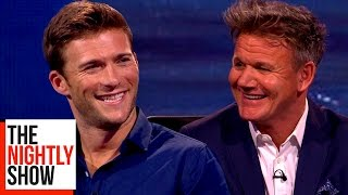 gordon ramsay asks scott eastwood for scarlett johanssons phone number