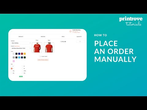 How To Place A Manual Order On Printrove | Printrove Tutorials thumbnail