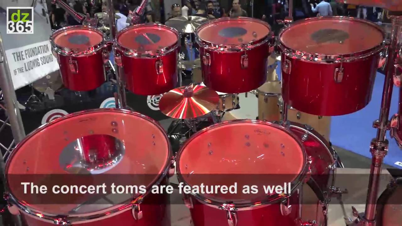 The Ludwig Drums Birthday Cake Drum Kit