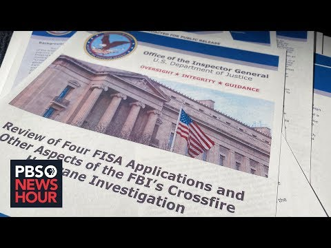 PBS NewsHour: DOJ inspector general finds Russia probe was appropriately opened -- but Barr disagrees