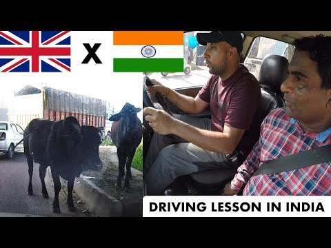 I Had A Driving Lesson In INDIA | It Was CRAZY!