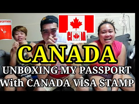 UNBOXING MY PASSPORT With CANADA VISA STAMP/2020