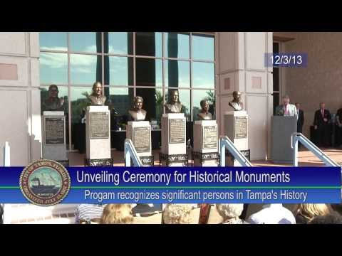 Unveiling Ceremony for Historical Monuments on the Tampa Riverwalk