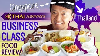 Thai Airways BUSINESS CLASS Food Review & Local Thai Food in Bangkok