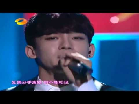 140214 EXO Chen and Zhang Liyin Breath Live Hunan TV Lantern Festival