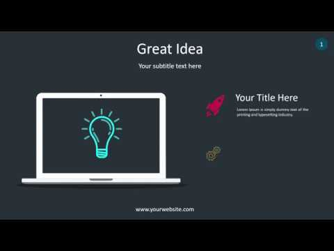 Great Idea Infographic - Animated PowerPoint Template - YouTube