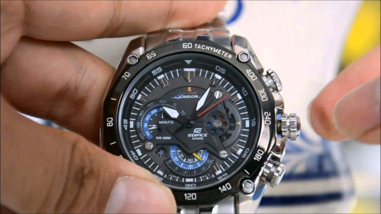 1869186776e5 How to set time and date in CASIO EDIFICE EF-550RBSP   - YouTube