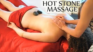 Hot Stone & Cold Stone Massage techniques - How To Use Stones For Back Massage Relaxation