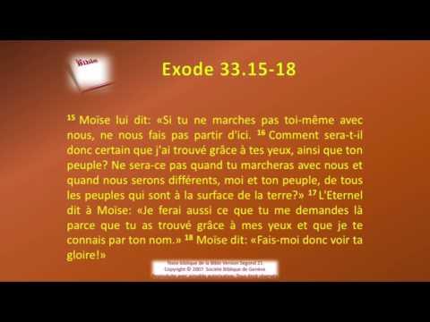 02 Le livre de l'Exode Chap 33 Sg21 Texte déroulant et l'audio  vidéo évangile Bible La Parole de