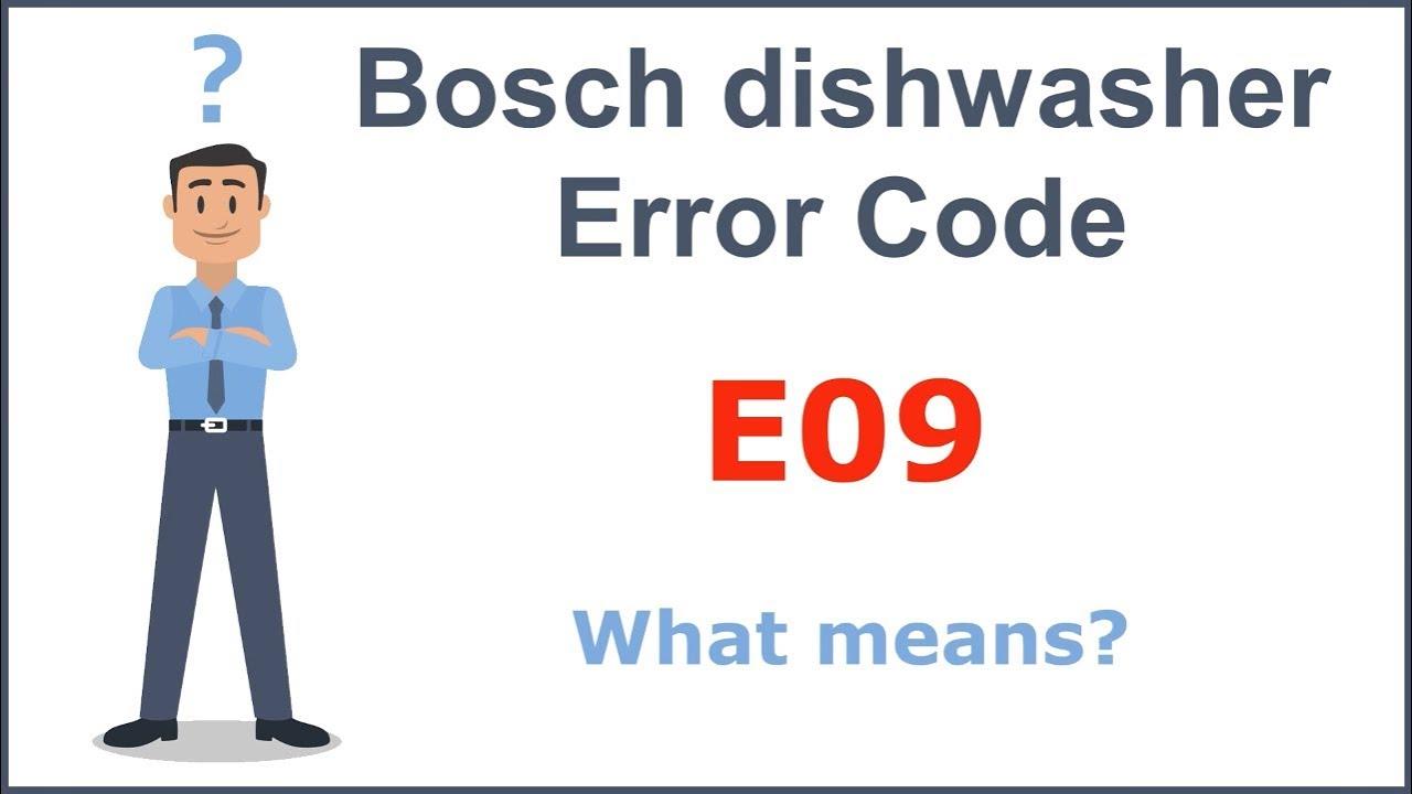 bosch fehler e09